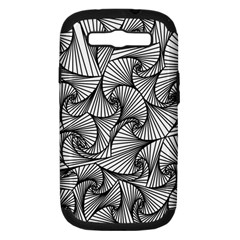 Fractal Sketch Light Samsung Galaxy S Iii Hardshell Case (pc+silicone)