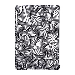 Fractal Sketch Light Apple Ipad Mini Hardshell Case (compatible With Smart Cover)