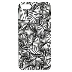 Fractal Sketch Light Apple Iphone 5 Hardshell Case With Stand