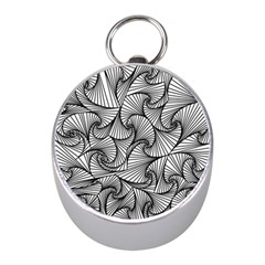 Fractal Sketch Light Mini Silver Compasses