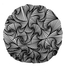 Fractal Sketch Light Large 18  Premium Flano Round Cushions