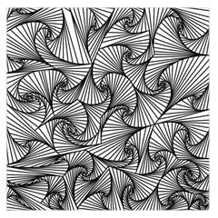 Fractal Sketch Light Large Satin Scarf (square)