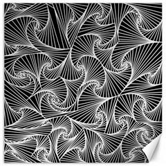 Fractal Sketch Dark Canvas 16  X 16