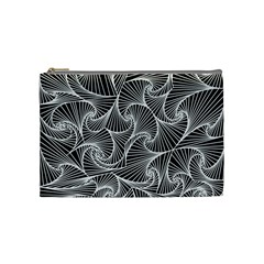 Fractal Sketch Dark Cosmetic Bag (medium)