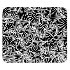 Fractal Sketch Dark Double Sided Flano Blanket (small)