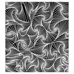 Fractal Sketch Dark Drawstring Pouches (xxl)
