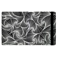Fractal Sketch Dark Apple Ipad Pro 9 7   Flip Case