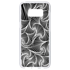 Fractal Sketch Dark Samsung Galaxy S8 White Seamless Case
