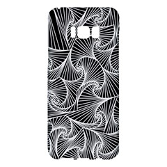 Fractal Sketch Dark Samsung Galaxy S8 Plus Hardshell Case