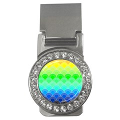 Art Deco Rain Bow Money Clips (cz)