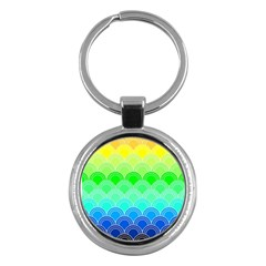 Art Deco Rain Bow Key Chains (round)