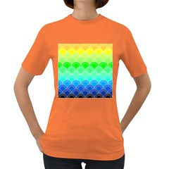 Art Deco Rain Bow Women s Dark T Shirt