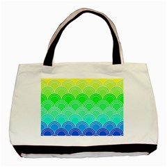 Art Deco Rain Bow Basic Tote Bag (two Sides)
