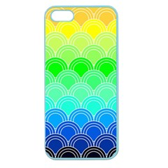 Art Deco Rain Bow Apple Seamless Iphone 5 Case (color)