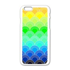 Art Deco Rain Bow Apple Iphone 6/6s White Enamel Case