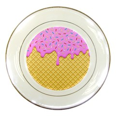Strawberry Ice Cream Porcelain Plates