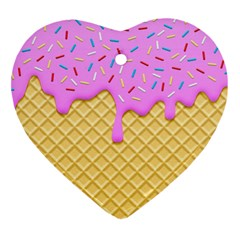 Strawberry Ice Cream Heart Ornament (two Sides)