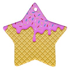 Strawberry Ice Cream Star Ornament (two Sides)