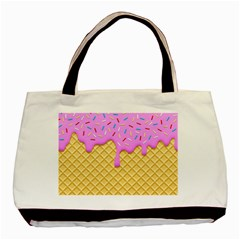 Strawberry Ice Cream Basic Tote Bag (two Sides)