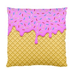 Strawberry Ice Cream Standard Cushion Case (two Sides)