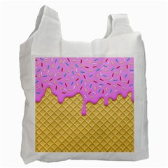 Strawberry Ice Cream Recycle Bag (two Side)