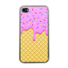 Strawberry Ice Cream Apple Iphone 4 Case (clear)