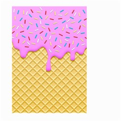 Strawberry Ice Cream Large Garden Flag (two Sides)