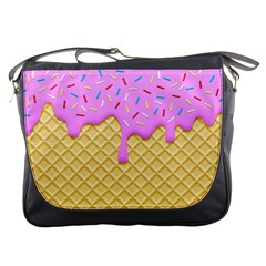 Strawberry Ice Cream Messenger Bags
