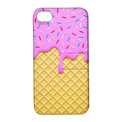 Strawberry Ice Cream Apple Iphone 4/4s Hardshell Case With Stand