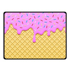 Strawberry Ice Cream Double Sided Fleece Blanket (small)