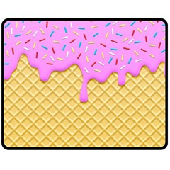Strawberry Ice Cream Double Sided Fleece Blanket (medium)