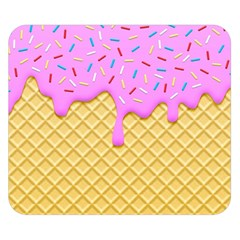 Strawberry Ice Cream Double Sided Flano Blanket (small)