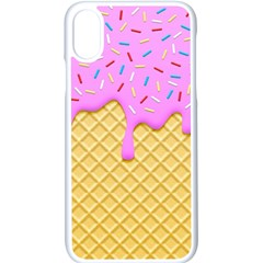 Strawberry Ice Cream Apple Iphone X Seamless Case (white)