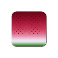 Watermelon Rubber Square Coaster (4 Pack)