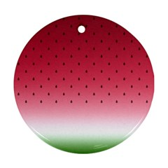 Watermelon Round Ornament (two Sides)