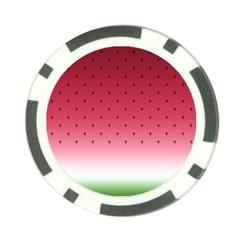 Watermelon Poker Chip Card Guard