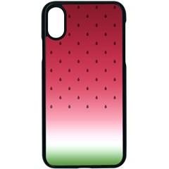 Watermelon Apple Iphone X Seamless Case (black)