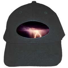 Storm Weather Lightning Bolt Black Cap