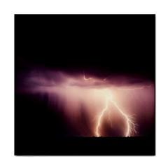 Storm Weather Lightning Bolt Tile Coasters