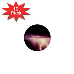 Storm Weather Lightning Bolt 1  Mini Buttons (10 Pack)