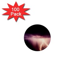 Storm Weather Lightning Bolt 1  Mini Magnets (100 Pack)