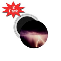 Storm Weather Lightning Bolt 1 75  Magnets (10 Pack)
