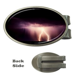 Storm Weather Lightning Bolt Money Clips (oval)