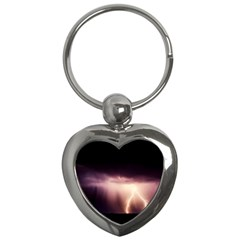 Storm Weather Lightning Bolt Key Chains (heart)
