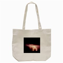Storm Weather Lightning Bolt Tote Bag (cream)