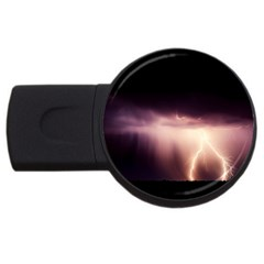 Storm Weather Lightning Bolt Usb Flash Drive Round (4 Gb)