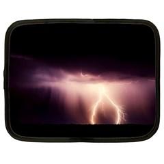 Storm Weather Lightning Bolt Netbook Case (large)
