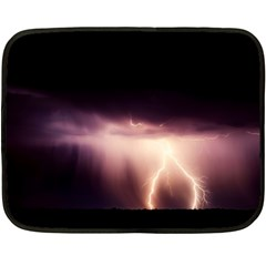 Storm Weather Lightning Bolt Fleece Blanket (mini)