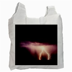 Storm Weather Lightning Bolt Recycle Bag (two Side)