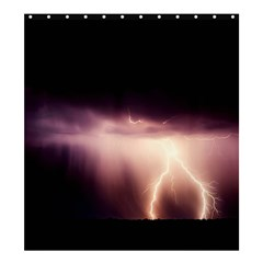 Storm Weather Lightning Bolt Shower Curtain 66  X 72  (large)